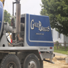Logo of Gale Briggs Inc on the back of cement truck