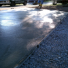 Finishing freshly poured concrete